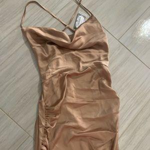 Boohoo ruched dress